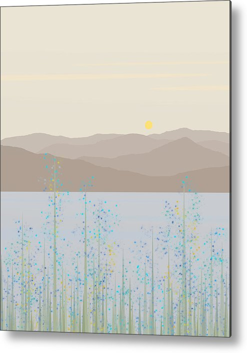 By The River Metal Print featuring the digital art By The River by Val Arie