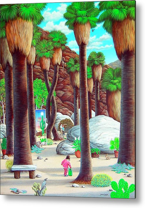 Canyon Metal Print featuring the painting Caretaker by Snake Jagger