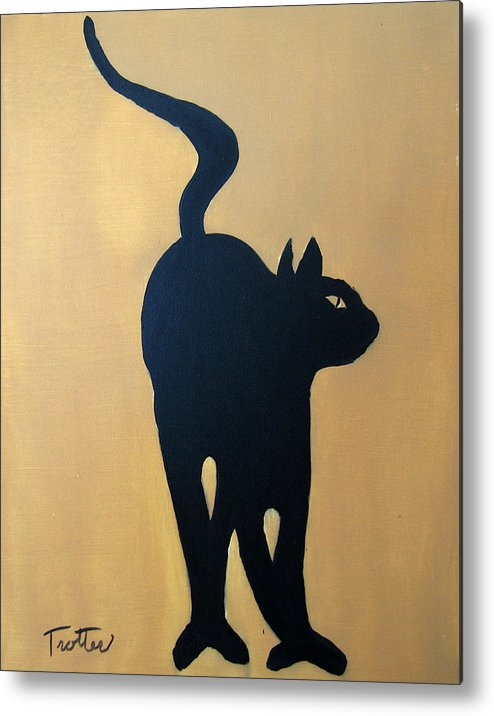 Cat Metal Print featuring the painting Cat Dance..... Optical Illusion by Patrick Trotter