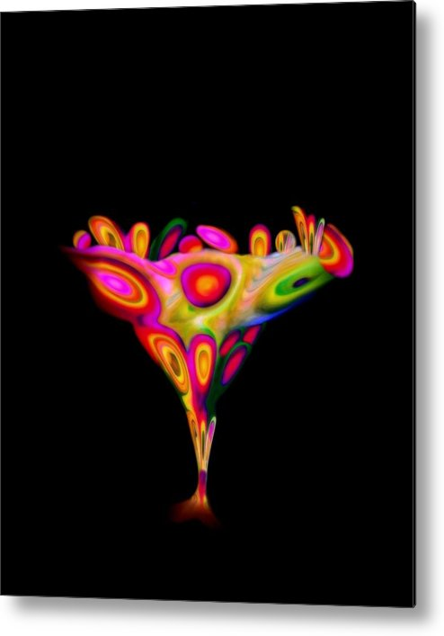 Chalice Metal Print featuring the mixed media Chalice by Jacqueline Migell