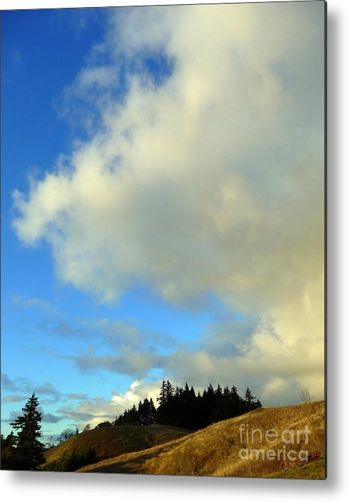 Clouds Metal Print featuring the photograph Change In The Air by JoAnn SkyWatcher