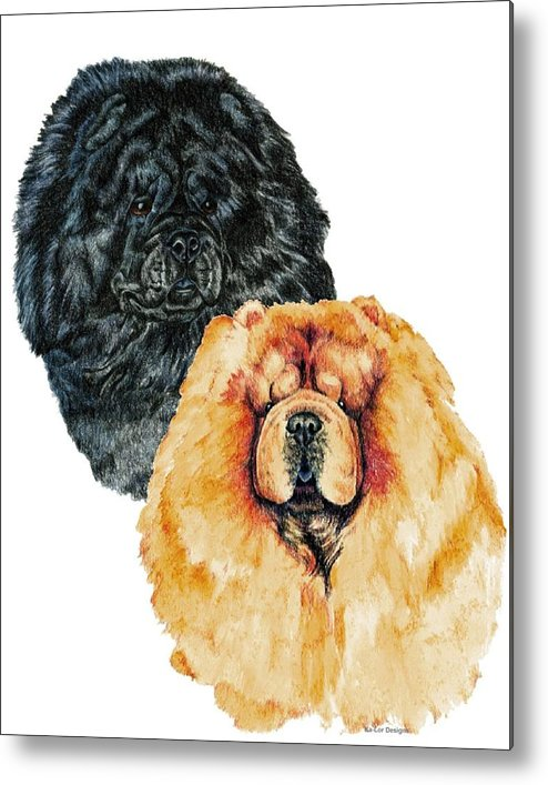 Chow Chow Metal Print featuring the painting Chow Chows by Kathleen Sepulveda