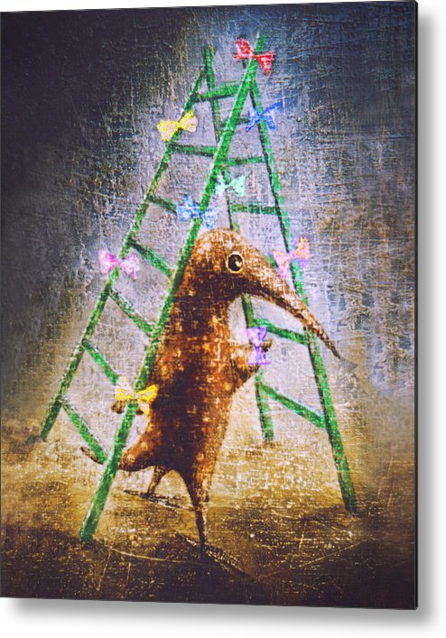 Tree Metal Print featuring the painting Christmas Tree by Lolita Bronzini