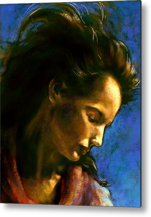 Figurative Metal Print featuring the digital art Clear Blue 2 by Stuart Gilbert