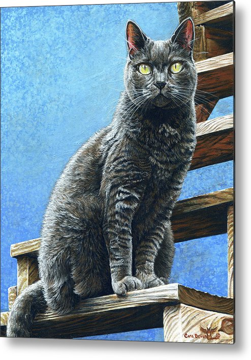 Cleo Metal Print featuring the painting Cleo by Cara Bevan