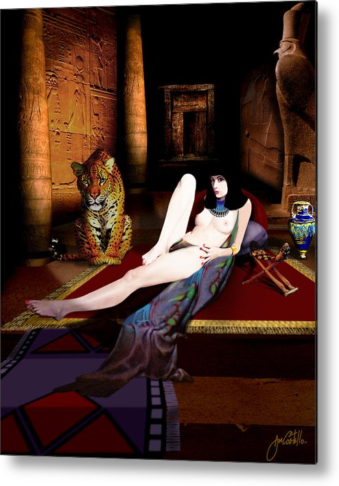 Cleo Metal Print featuring the digital art Cleo by Joe Costello