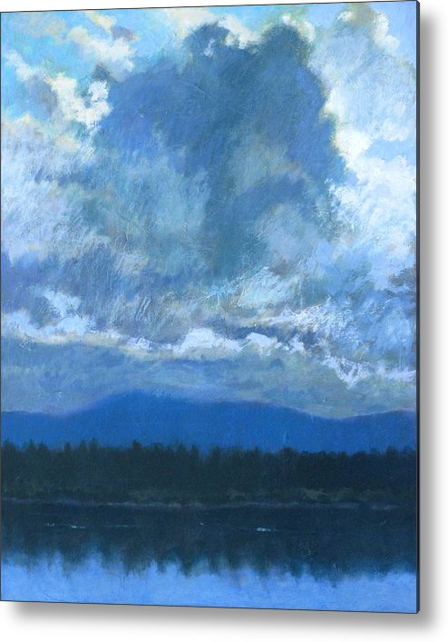 Cloud Metal Print featuring the painting Clouds On The Kootenai by Robert Bissett
