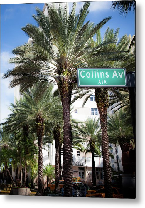 Collins Avenue Metal Print featuring the photograph Collins Av A1a by Karen Wiles