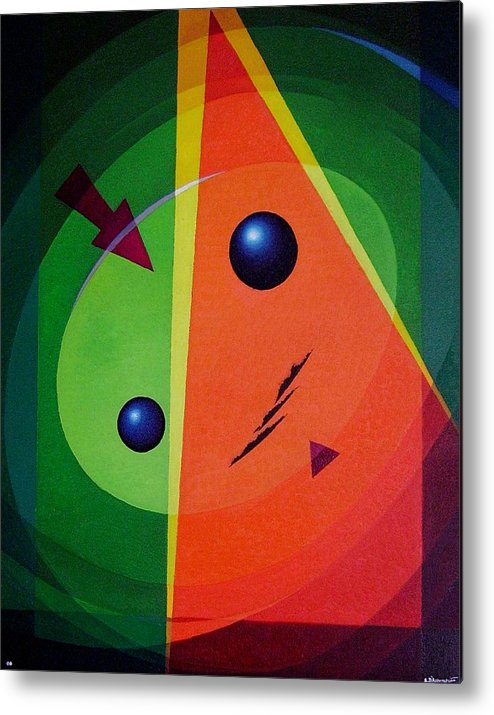#abstract Metal Print featuring the painting Compass by Alberto DAssumpcao