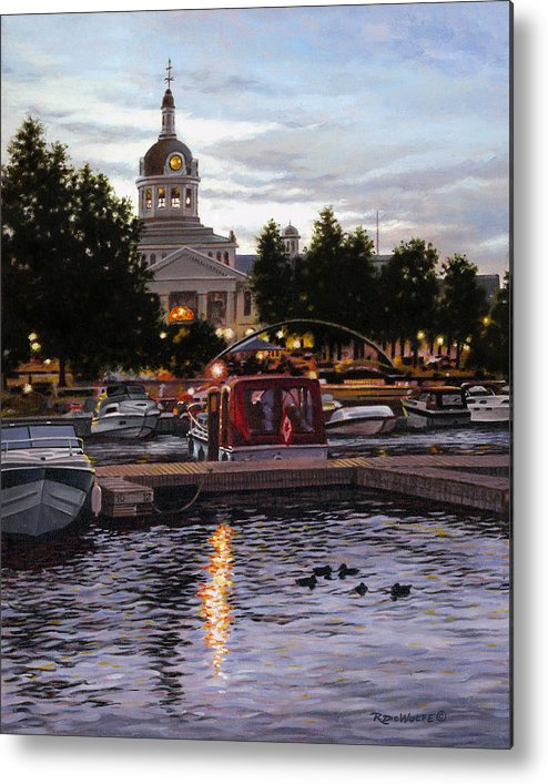 Kingston Metal Print featuring the painting Confederation Park by Richard De Wolfe