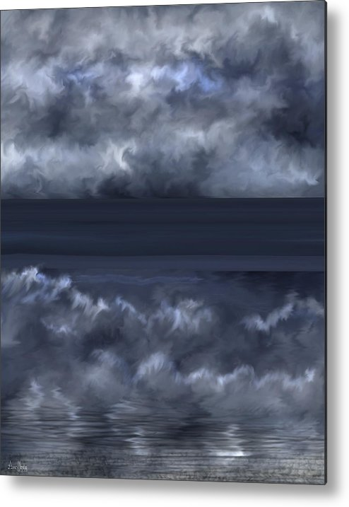 Seascape Metal Print featuring the painting Convergence Zone by Anne Norskog