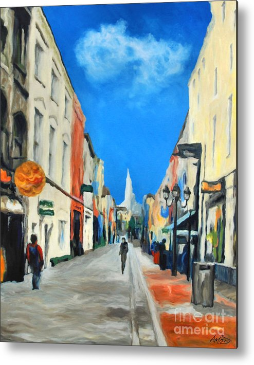 Architectural Metal Print featuring the painting Cook Street  Cork Ireland by Anne Marie ODriscoll