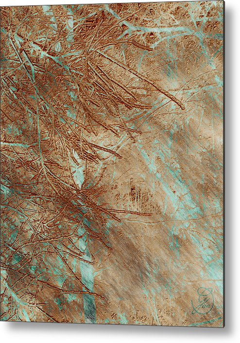 Pine Metal Print featuring the digital art Copper Pines by Gae Helton