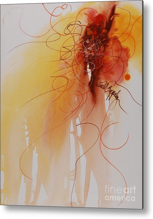 Creativity Metal Print featuring the painting Creativity by Nadine Rippelmeyer