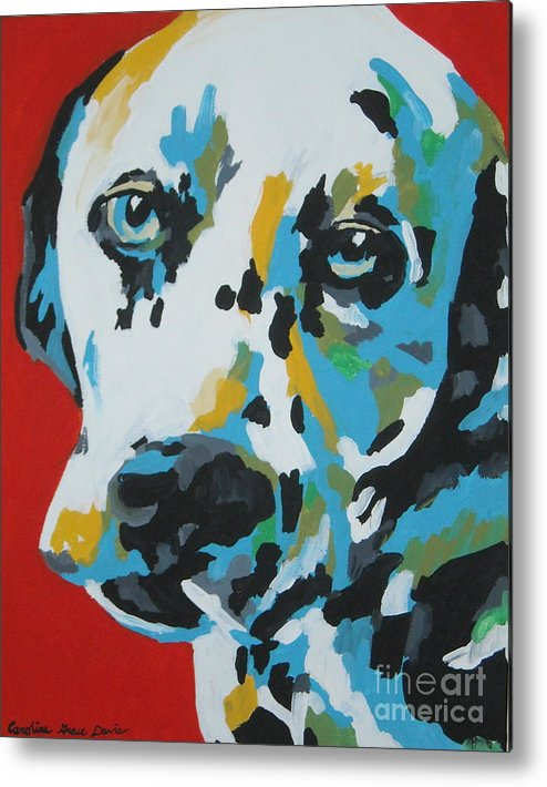 Dalmation Metal Print featuring the painting Dalmation by Caroline Davis