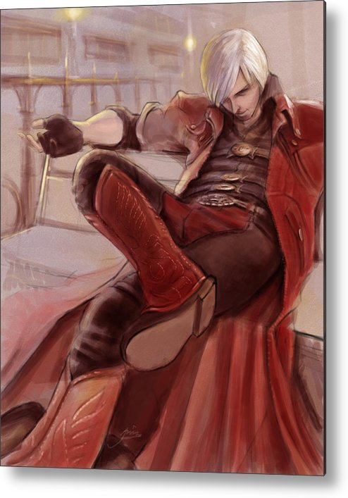 Dante Metal Print featuring the digital art Dante by Alvin Goh