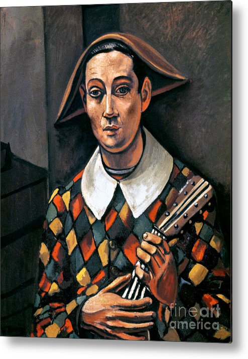 1919 Metal Print featuring the photograph Derain: Harlequin, 1919 by Granger