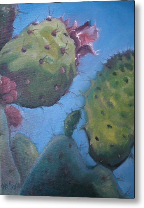 Plants Metal Print featuring the painting Desert Jewels Iv by Aleksandra Buha