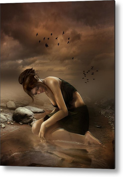 Sadness Metal Print featuring the digital art Desolation by Mary Hood