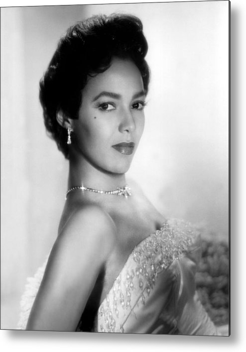 1950s Portraits Metal Print featuring the photograph Dorothy Dandridge, No Date by Everett