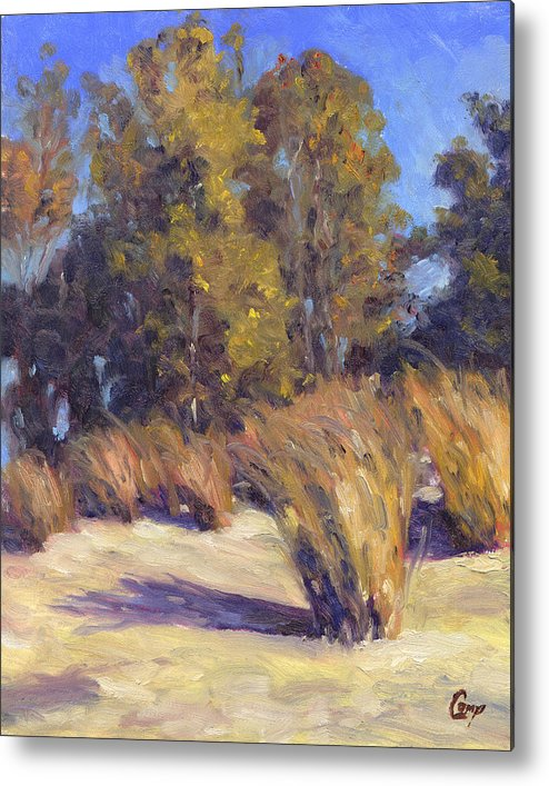 Dune Metal Print featuring the painting Dune Grasses by Michael Camp