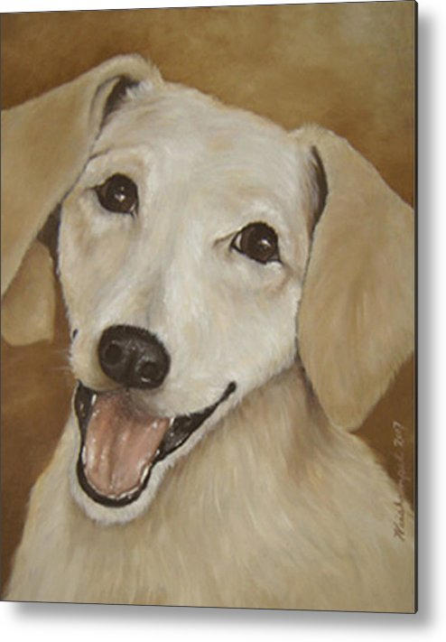 Oils Metal Print featuring the painting Dusty by Winifred Ann Weishampel