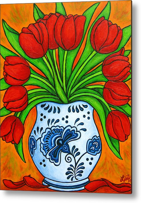 White Metal Print featuring the painting Dutch Delight by Lisa Lorenz