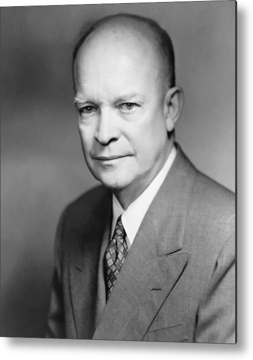 Eisenhower Metal Print featuring the painting Dwight Eisenhower by War Is Hell Store