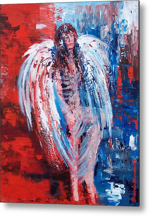 Art Metal Print featuring the painting Earth Angel by Claude Marshall