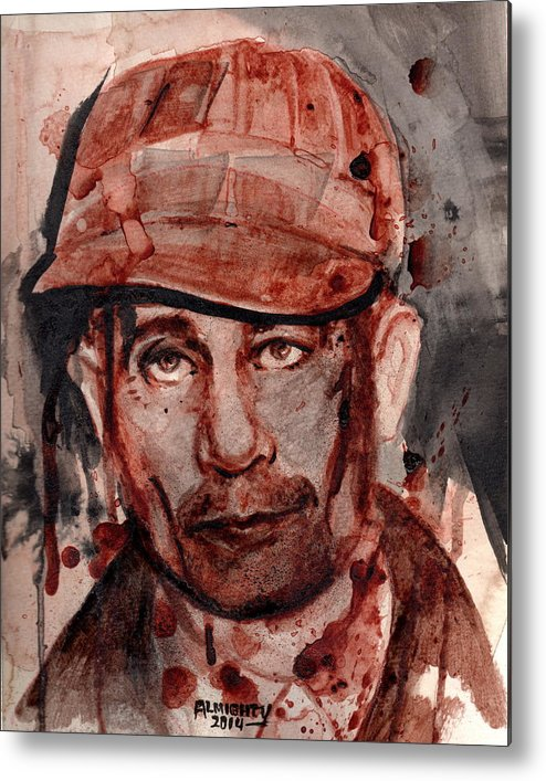 Ed Gein Metal Print featuring the painting Ed Gein by Ryan Almighty