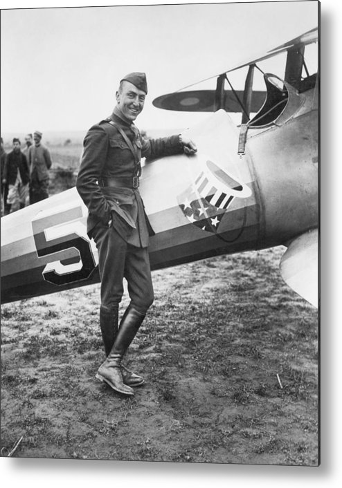 1918 Metal Print featuring the photograph Edward V. Rickenbacker by Granger