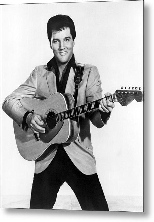 1950s Portraits Metal Print featuring the photograph Elvis Presley, C. Mid-1960s by Everett