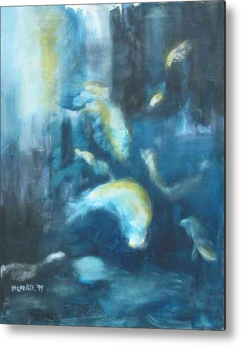 Ocean Metal Print featuring the painting Enchanted Sea by Halle Treanor