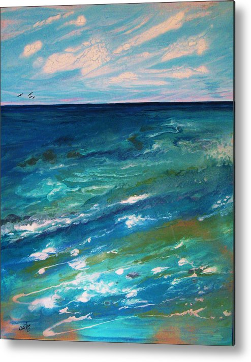 Contemporary Sea Metal Print featuring the painting Energie Printaniere De L by Annie Rioux