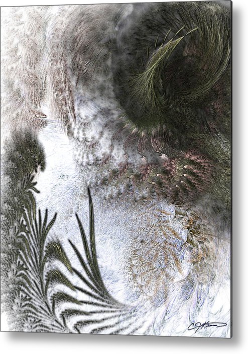 Abstract Metal Print featuring the digital art Environmental Transitions by Casey Kotas