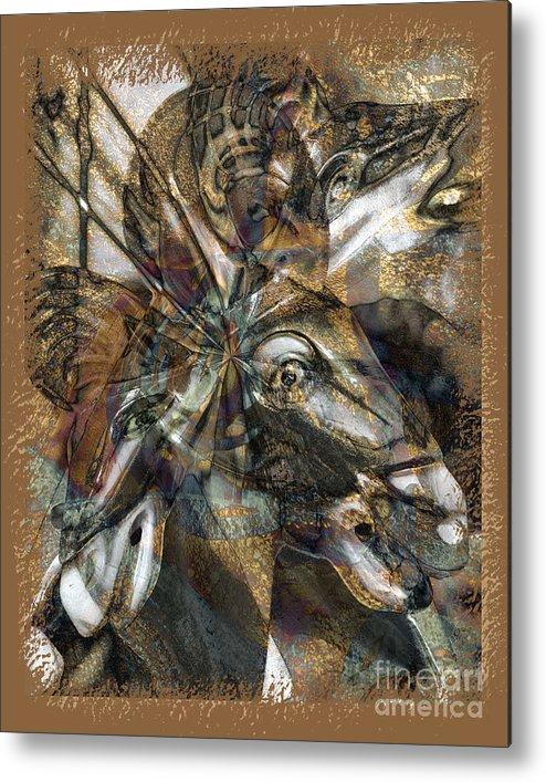 Horse Metal Print featuring the digital art Equus by Chuck Brittenham