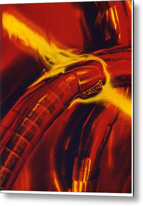 Abstract Metal Print featuring the photograph Eritico by David Rivas