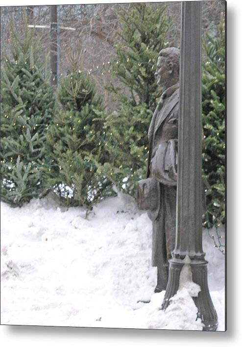 Winter Carnival Metal Print featuring the photograph F Scott Fitzgerald At Rice Park by Janis Beauchamp