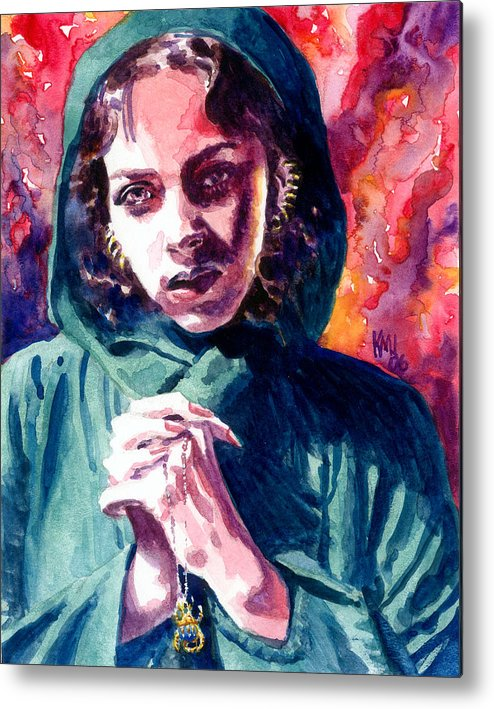 Women Metal Print featuring the painting Fair One by Ken Meyer