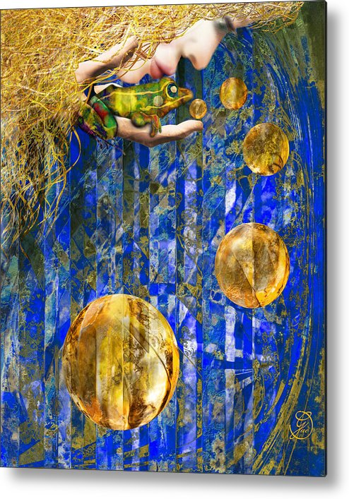 Frog Metal Print featuring the digital art Fairy Tales - The Frog Prince by Gae Helton