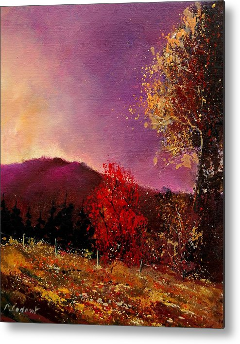 River Metal Print featuring the painting Fall Colors by Pol Ledent