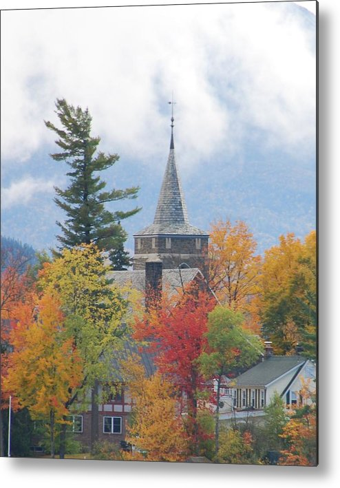 Landscape Metal Print featuring the photograph Fall In Upstate New York by Becky Hollis