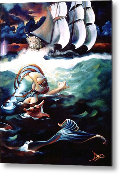 Seafarer Metal Print featuring the painting Finnegan's Quest by Patrick Anthony Pierson