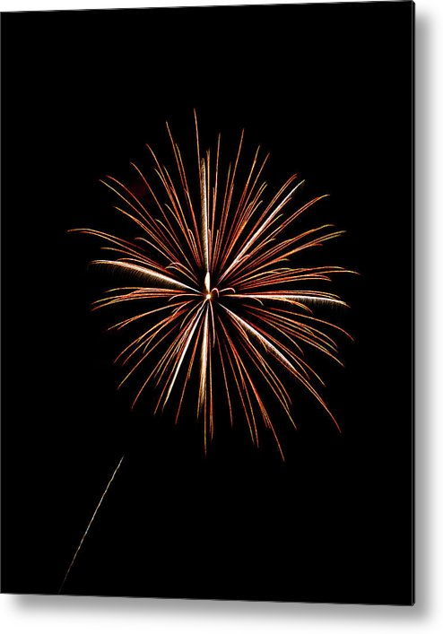 Frieworks Metal Print featuring the photograph Fire Works by Gary Langley