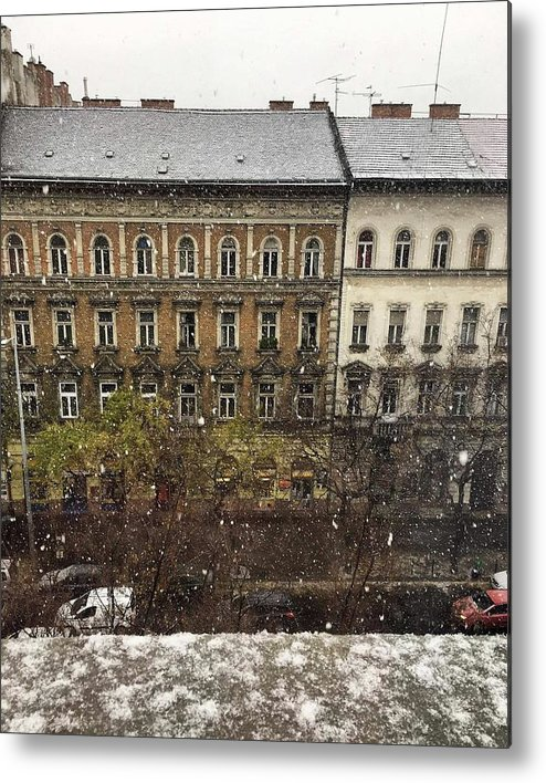 Metal Print featuring the photograph First Snow Of The Year by Dora Talas