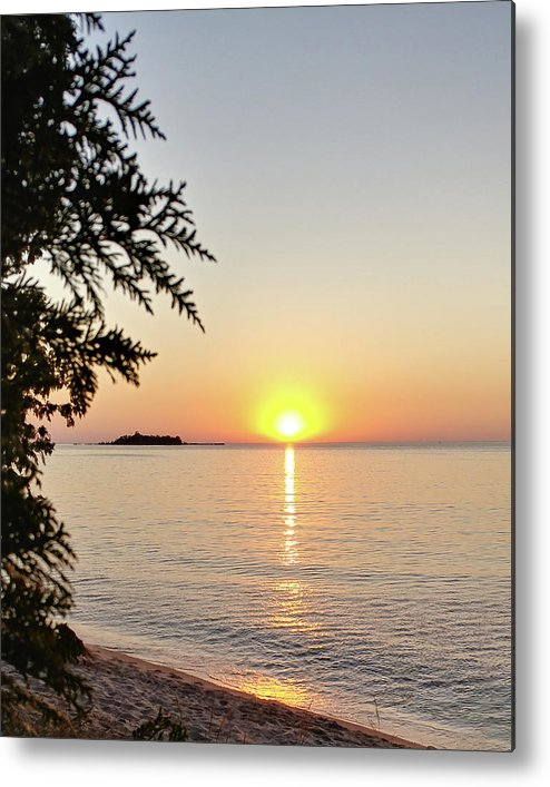 Photograph Metal Print featuring the photograph Fisherman's Island Sunset by Marcia Wolf