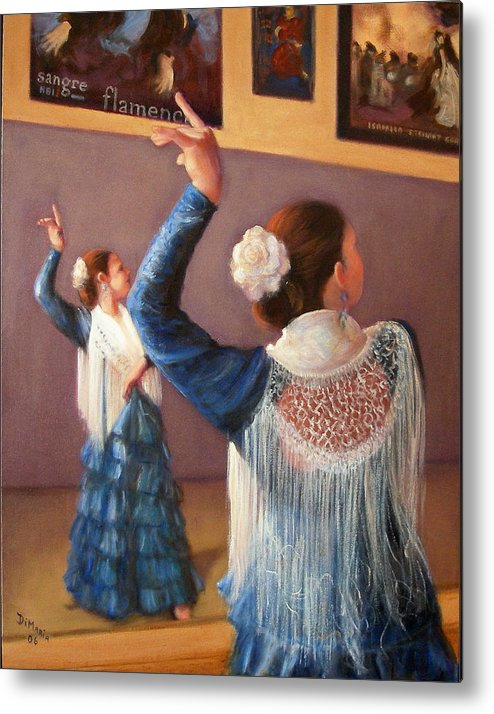 Realism Metal Print featuring the painting Flamenco 7 by Donelli DiMaria