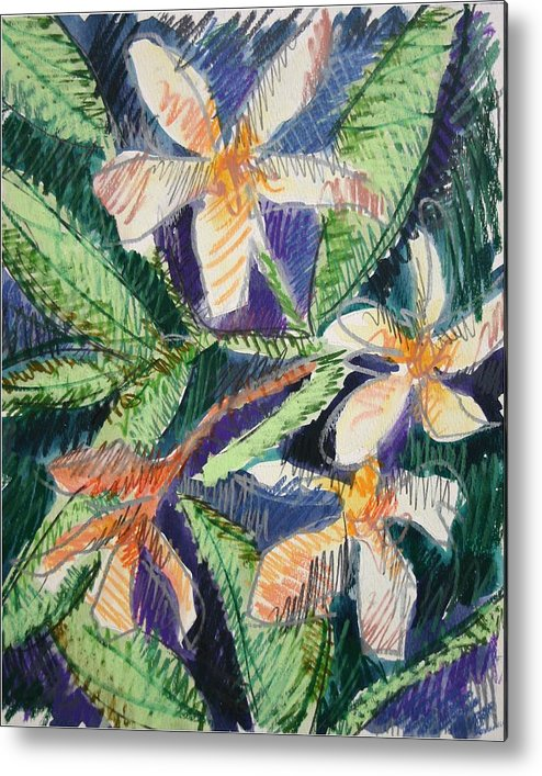 Flower Metal Print featuring the painting Flora Exotica by Dodd Holsapple