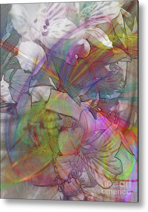 Floral Fantasy Metal Print featuring the digital art Floral Fantasy by John Beck