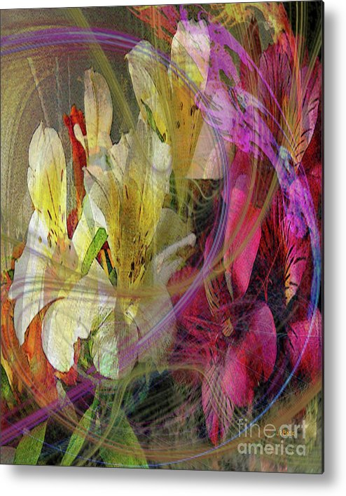 Floral Inspiration Metal Print featuring the digital art Floral Inspiration by John Beck